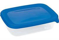 0,5л. Контейнер для СВЧ Curver для харчових продуктів 16,7*12,7*4,6см (прямок./синій/проз.)