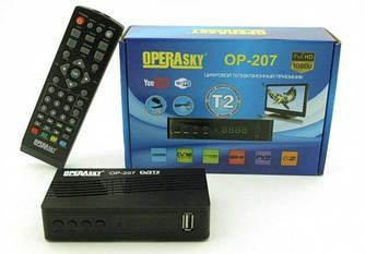 Приставка T2 OP-207 OperaSky. Т2 эфирный приемник c WiFi- YouTube IPTV  для приёма теле-программ