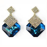 """Серьги """"Dolce Gabbana"""" позолоченные с кристаллами swarovski"""