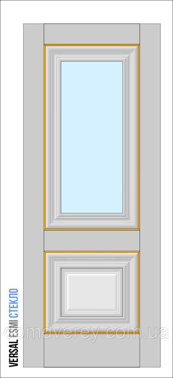 Двери межкомнатные, Родос, Versal, Esmi, со стеклом, basic molding
