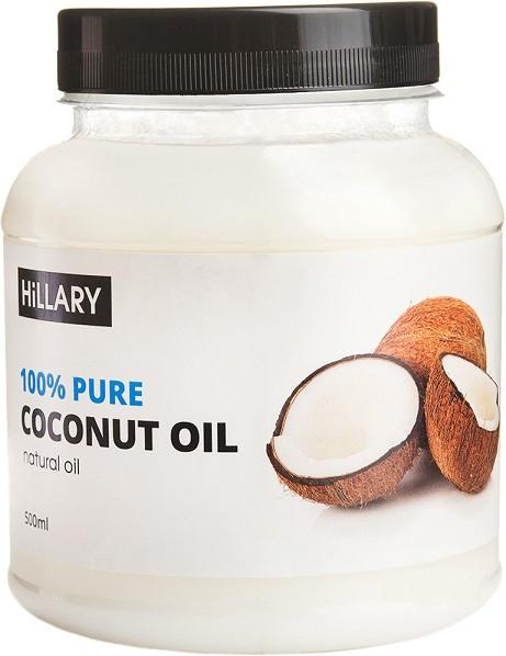 Кокосовое масло рафинированное Hillary Premium Quality Coconut Oil 500 мл