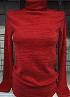 Гольф с ангоровым напылением женский (красный)