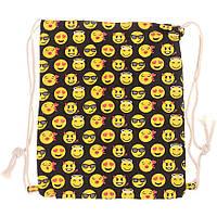Сумка-рюкзак Эмодзи, тканевый рюкзак для пляжа, сумка-рюкзак с принтом  СС-2518-00