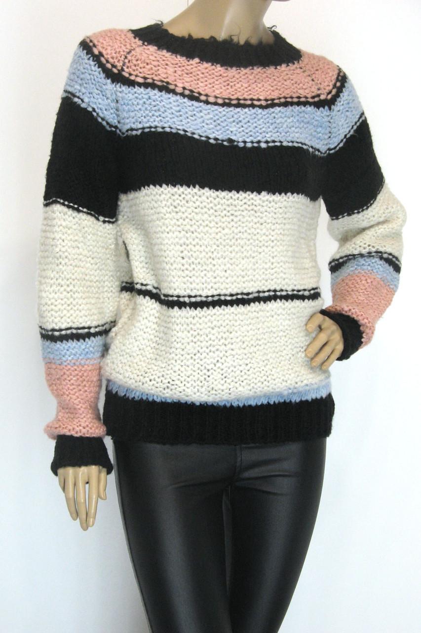 Жіночий вязаний светр джемпер грубої вязки