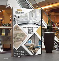 Дизайн и печать баннеров (магазин мебели Евромебель)