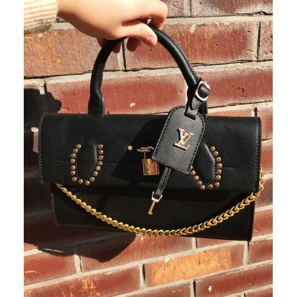 Женская сумочка Louis Vuitton (Луи Витон), черный цвет