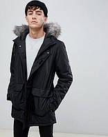 Парка\куртка D-Struct - Hecto черная с меховой отделкой (мужская/чоловіча) Зима