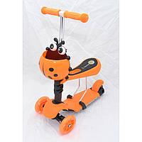 Трехколесный детский САМОКАТ - СКУТЕР (Scooter 3 в 1) с сиденьем и корзиной