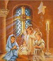 """Картина алмазной техники """"Ангелок с детьми"""""""