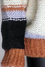 Женский вязаний свитер в полоску, фото 2