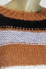 Женский вязаний свитер в полоску, фото 3