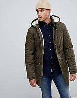 Парка\куртка Bellfield - Moudler темно зеленая с меховой отделкой (мужская/чоловіча) Зима