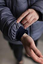 Мужская зимняя куртка Nike Air max серая меланж (холлофайбер), фото 2