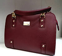 """Женская сумка, качественная """"FASHION"""",  бордовая, каркасная, стильная, 059248"""