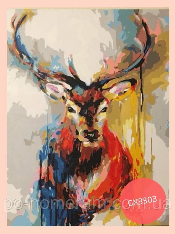 раскраска акриловыми красками олень