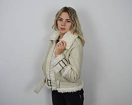 Куртка-дубленка бежевая 803