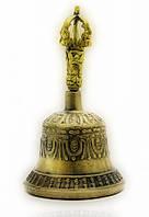 Колокол чакровый бронзовый (№3)(d-9,h-15,5 см) (непал)