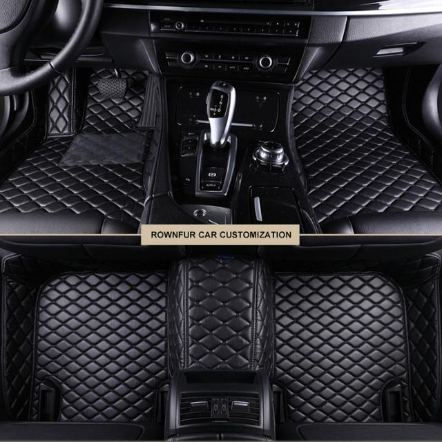 Автомобильные коврики 3D для Honda CR-V 2012 2013 2014 2015 2016 кожаные   черный