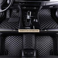 Автомобильные коврики 3D для Honda CR-V 2012 2013 2014 2015 2016 кожаные   черный, фото 1