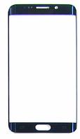 Стекло (для ремонта дисплея) Samsung G928 Galaxy S6 EDGE+, синее