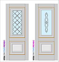 Двери межкомнатные, Родос, Versal, Esmi, со стеклом и рисунком, small molding, фото 1