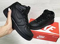 Зимние кроссовки Nike Air Force (черные)