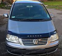 Мухобойка +на капот  VW Sharan 2 с 2000- г.в. (Фольксваген Шаран) Vip Tuning