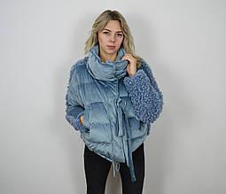 Куртка голубая 8126