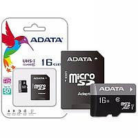 Карта памяти ADATA Premier 16GB microSD class 10 UHS-I