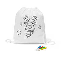 Сумка рюкзак для раскраски, цвет белый