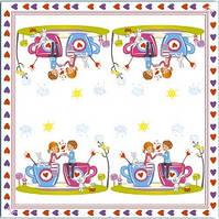 Серветки столові Luxy тришарові 33х33 см 20 шт. Перше кохання  (4820164963487)
