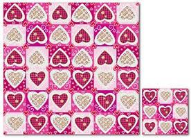 Серветки столові Luxy тришарові 33х33 см 20 шт. Сердечка  (4820164961773)