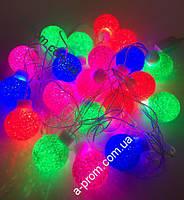 "Гирлянда светодиодная ""Шарики"" 20 ламп(LED), уличная"