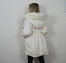 Куртка-парка белая 3026, фото 3