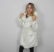 Куртка-парка белая 3026