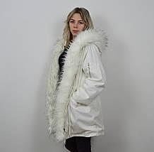 Куртка-парка белая 3026, фото 2