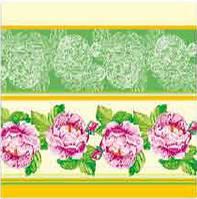 Салфетка ТМ Luxy 33*33, 3 шари, 20шт. Садова троянда салатова 15уп/ящ