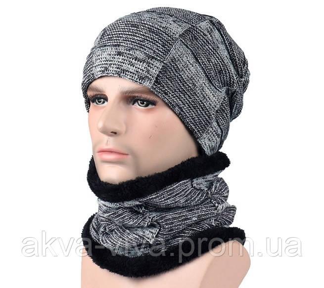 Шапка с шарфом для зимних видов спорта. Варианты цветов
