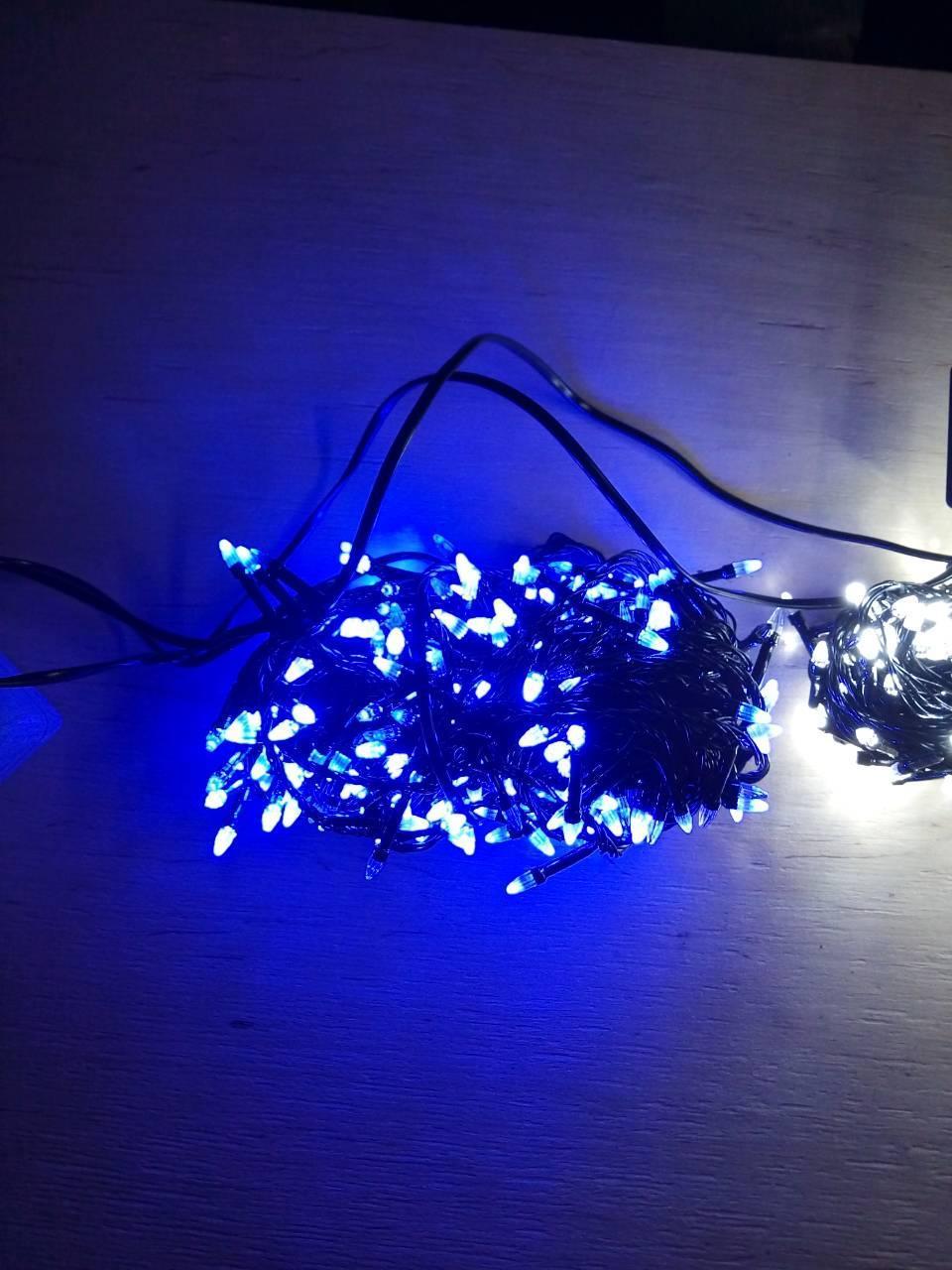 Новогодняя светодиодная гирлянда КОНУС 200LED 13м синий