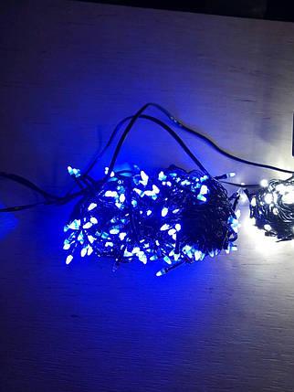 Новогодняя светодиодная гирлянда КОНУС 200LED 13м синий, фото 2