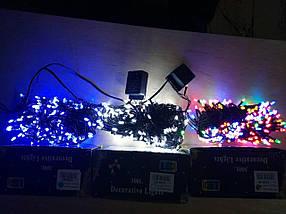 Новогодняя светодиодная гирлянда КОНУС 200LED 13м синий, фото 3