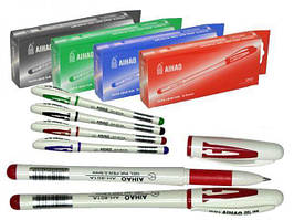 Ручка гелева АІНАО 801 червона,12шт. \бл.,144шт. \ящ.