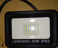 Прожектор светодиодный 20Вт 6500K IP65, LMP15-20, чёрный, фото 1
