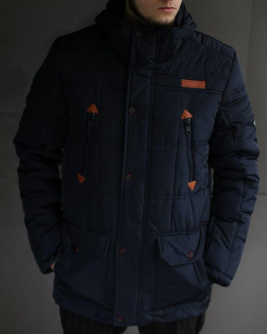 Куртка мужская зимняя Columbia темно синяя