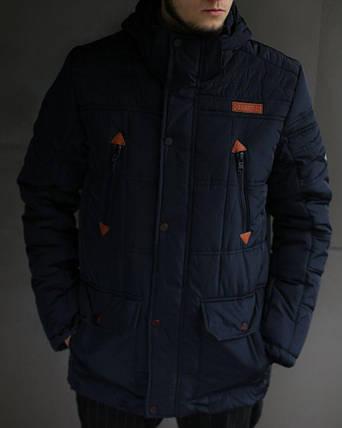Куртка мужская зимняя Columbia темно синяя, фото 2