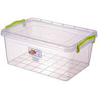 Контейнер с крышкой из пищевого пластика для хранения продуктов, вещей 9,5 л 375Х255Х166 мм Ал-Пластик OST-136