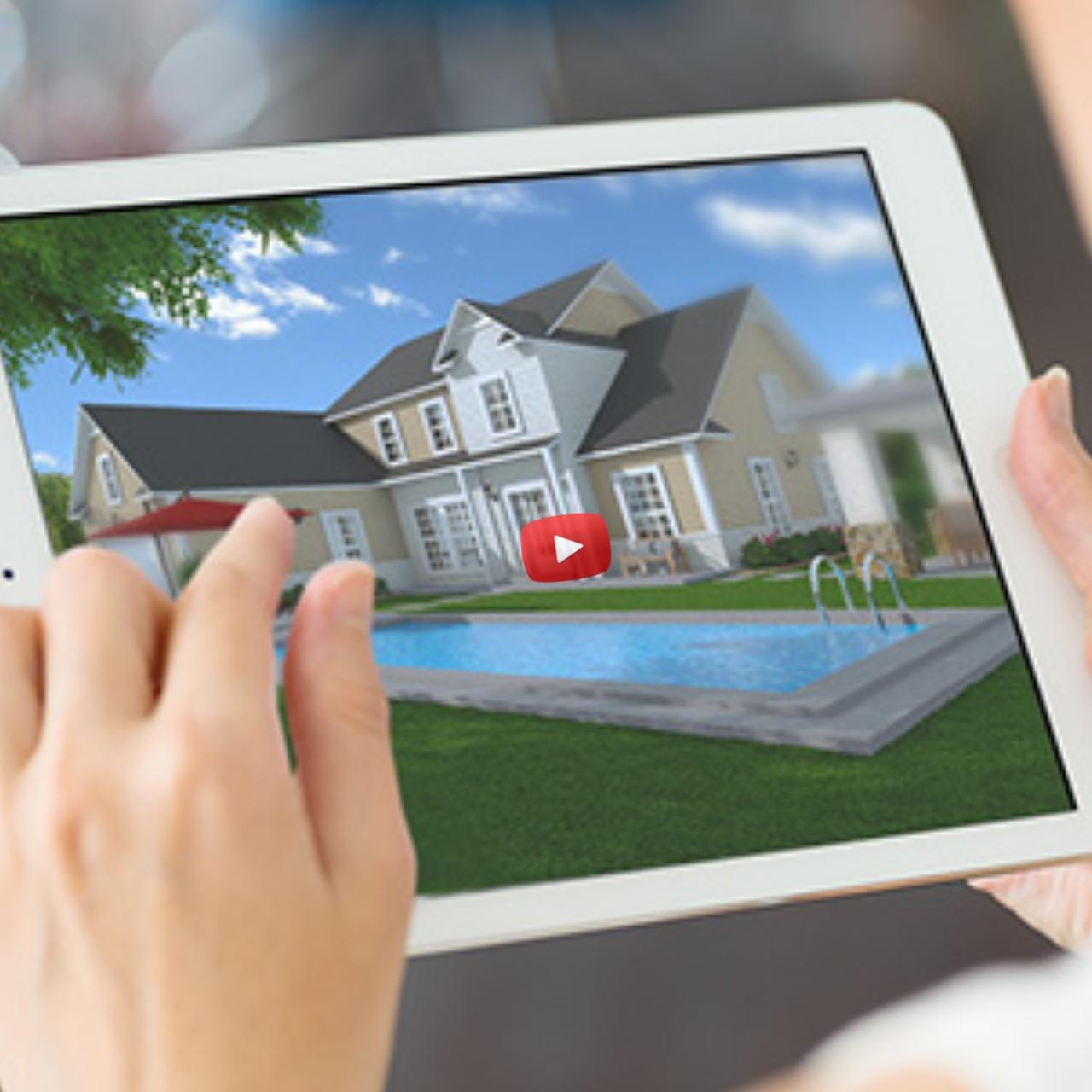 Видео-визуализация домов и коттеджей