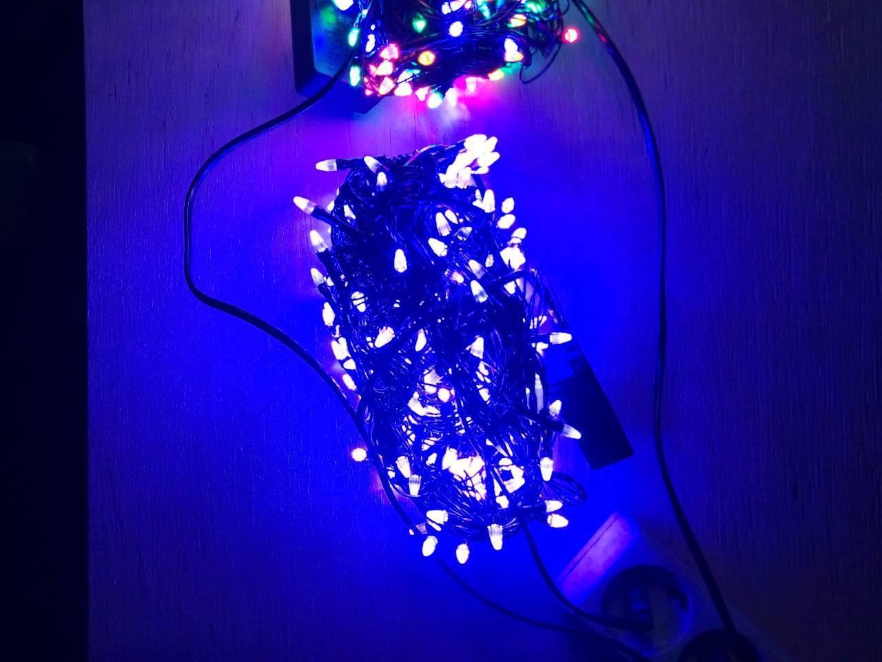 Новогодняя светодиодная гирлянда КОНУС 300LED 19.5м синий