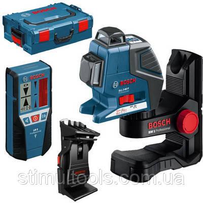 Нивелир лазерный Bosch GLL 2-80 P + BM 1 + LR 2 + L-BOXX
