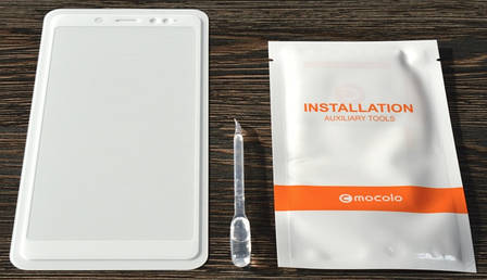 Захисне скло Mocolo для Xiaomi Redmi Note 5 Pro Full Glue Біла рамка + рідина, фото 2